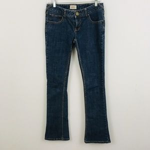 Free People Dark Wash Boot Cut Jeans Cotton 28